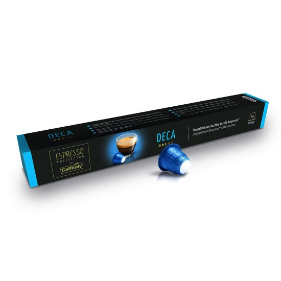 Caffitaly DECA Nespresso® bezkofeīna kafijas kapsulas 10 gab.